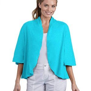 New Fresh Produce L Bluefin Turquoise Cardigan